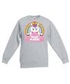 Sweater grijs voor meisjes met miss magic de eenhoorn