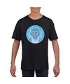 T shirt dolfijn zwart kinderen
