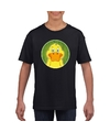 T shirt eend zwart kinderen
