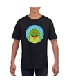 T shirt kikker zwart kinderen