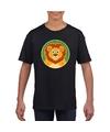 T shirt leeuw zwart kinderen