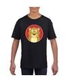 T shirt luipaard zwart kinderen