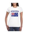 T shirt met australische vlag wit dames