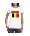 T shirt met belgische vlag wit dames