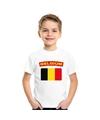 T shirt met belgische vlag wit kinderen