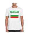 T shirt met bulgaarse vlag wit heren