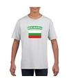 T shirt met bulgaarse vlag wit kinderen