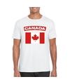 T shirt met canadese vlag wit heren