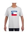 T shirt met chileense vlag wit kinderen