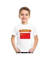 T shirt met chinese vlag wit kinderen