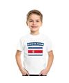 T shirt met costa ricaanse vlag wit kinderen