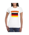 T shirt met duitse vlag wit dames