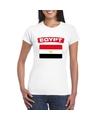 T shirt met egyptische vlag wit dames