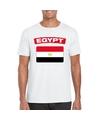 T shirt met egyptische vlag wit heren