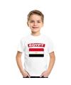 T shirt met egyptische vlag wit kinderen