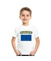 T shirt met europese vlag wit kinderen