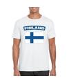 T shirt met finse vlag wit heren