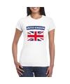 T shirt met groot brittannie engelse vlag wit dames