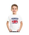 T shirt met groot brittannie engelse vlag wit kinderen