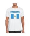 T shirt met guatemalaanse vlag wit heren