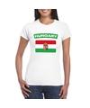 T shirt met hongaarse vlag wit dames