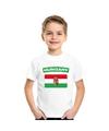 T shirt met hongaarse vlag wit kinderen