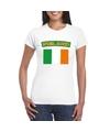 T shirt met ierse vlag wit dames