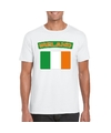 T shirt met ierse vlag wit heren