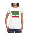 T shirt met iraanse vlag wit dames