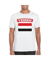 T shirt met irakese vlag wit heren