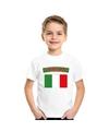 T shirt met italiaanse vlag wit kinderen
