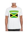 T shirt met jamaicaanse vlag wit heren
