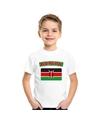 T shirt met keniaanse vlag wit kinderen