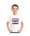 T shirt met kroatische vlag wit kinderen