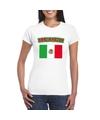 T shirt met mexicaanse vlag wit dames