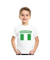 T shirt met nigeriaanse vlag wit kinderen
