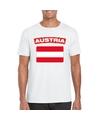 T shirt met oostenrijkse vlag wit heren
