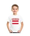 T shirt met oostenrijkse vlag wit kinderen