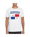 T shirt met panamese vlag wit heren