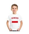 T shirt met poolse vlag wit kinderen