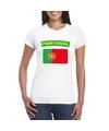 T shirt met portugese vlag wit dames