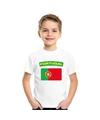 T shirt met portugese vlag wit kinderen
