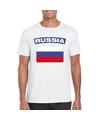 T shirt met russische vlag wit heren