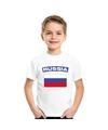 T shirt met russische vlag wit kinderen
