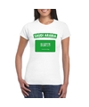 T shirt met saudi arabische vlag wit dames