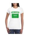 T shirt met saudi arabische vlag wit dames