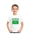 T shirt met saudi arabische vlag wit kinderen