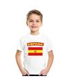 T shirt met spaanse vlag wit kinderen