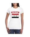 T shirt met syrische vlag wit dames