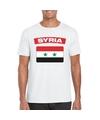 T shirt met syrische vlag wit heren